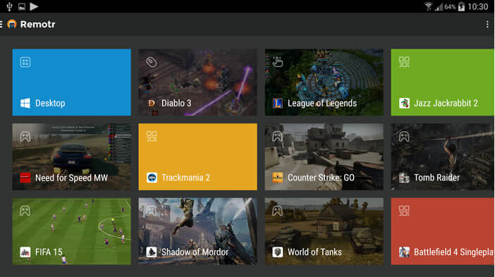 Remotr Game Streaming transforme le mobile en console de jeux