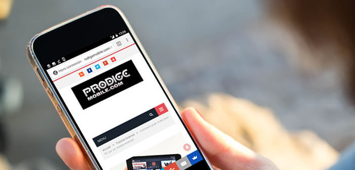 Télécharger des pages web depuis le navigateur Google Chrome pour Android
