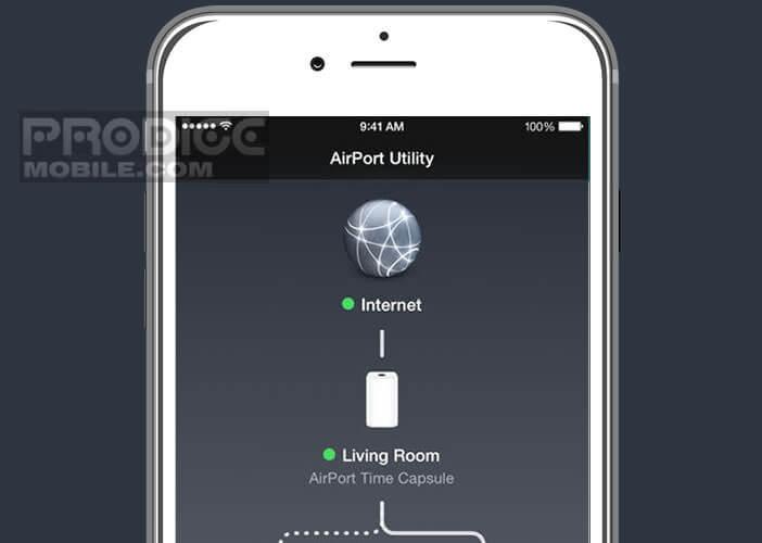 Paramétrer l'accès Wi-Fi de la borne Time Capsule