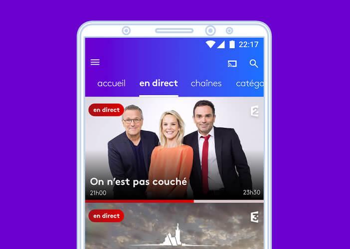 Regarder les chaînes de France Télévisions en direct sur votre smartphone