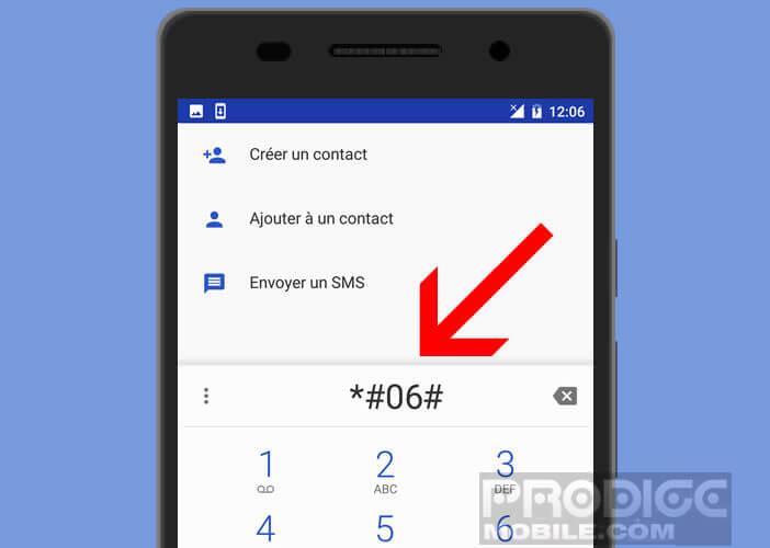 Code pour afficher les informations techniques d'un smartphone Android
