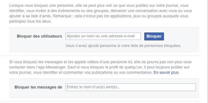 Gérer le système de blocage des amis virtuels Facebook