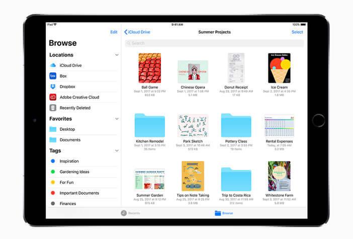 Fichiers: le nouveau gestionnaire de fichiers sur iOs