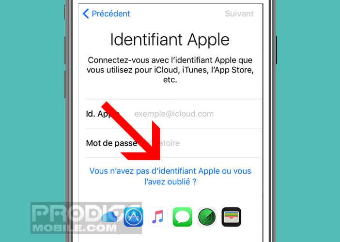 Répondez aux questions de sécurité pour vous authentifier sur le site d'Apple