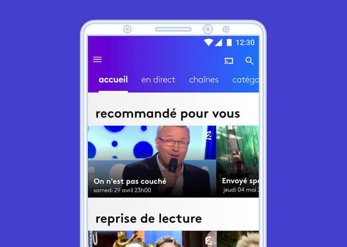 En fonctions de vos goûts, l'appli France.TV vous proposera une sélection de programmes