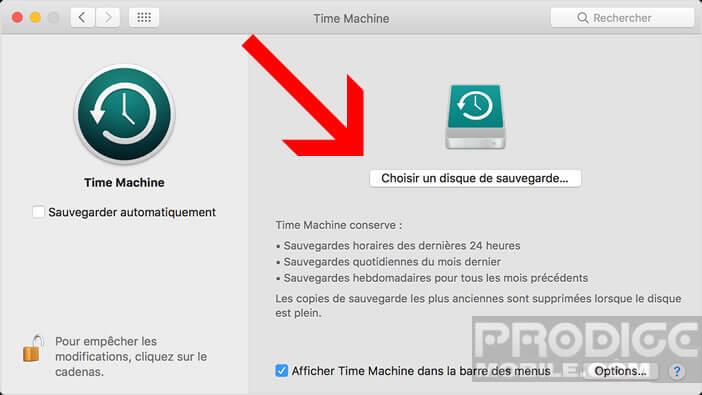 Mettre en place une sauvegarde automatique de votre Mac