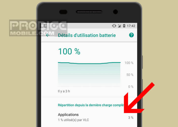 Liste des applications drainant le plus de batterie