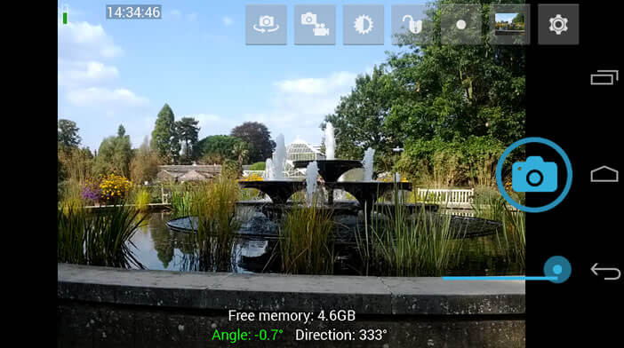 Open Camera est application de photos 360 degrés open source