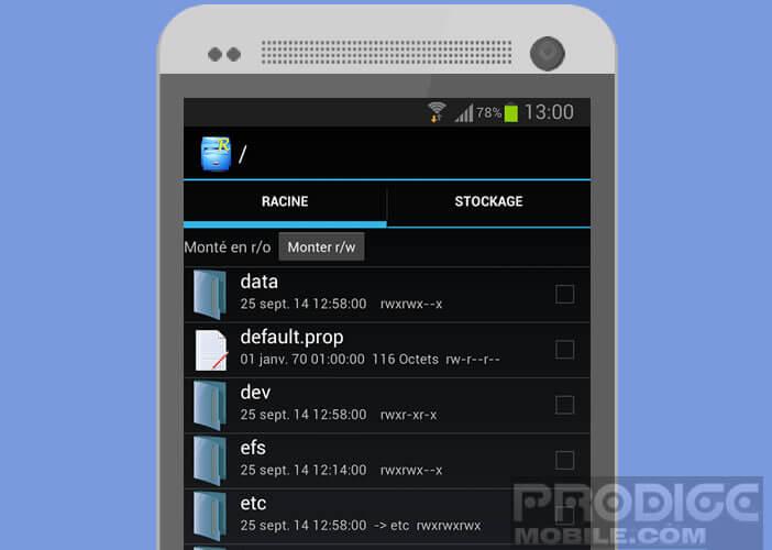 Changer les paramètres de démarrage d'Android avec Root Explorer