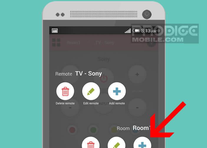 Ajouter une pièce virtuelle pour classer vos télécommandes