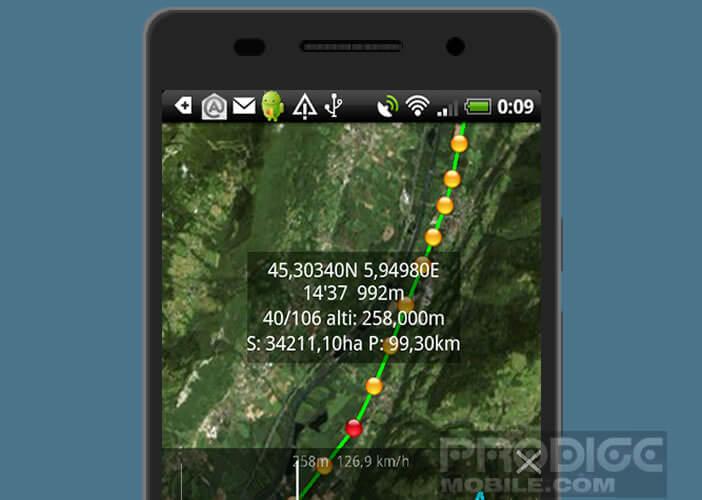Application iPhéGéNie pour partir en randonnée