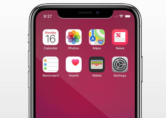La barre de capteurs de l'iPhone X est placée en haut de l'écran
