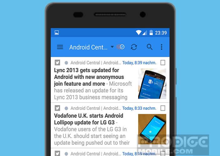 gReader une appli Android pour centraliser tous les articles de ses sites favoris