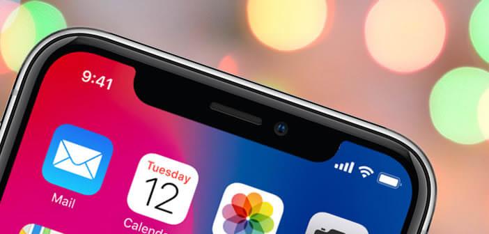 Afficher le pourcentage de batterie sur l'écran de l'iPhone X
