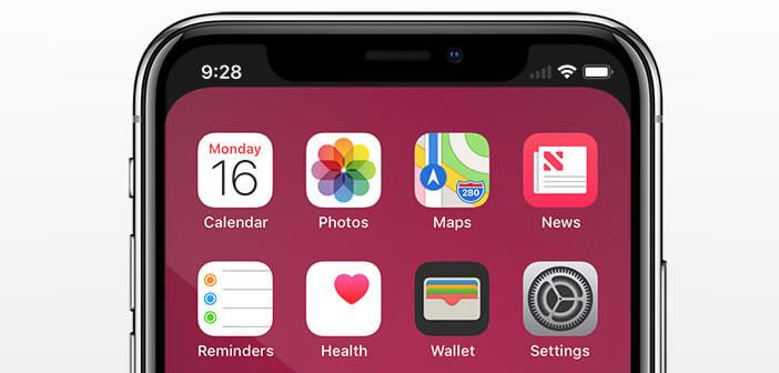 Masquer l'encoche de l'iPhone X avec un fond d'écran