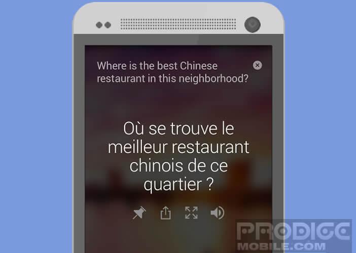 L'appli Microsoft traduit ce que vous dîtes en temps réel
