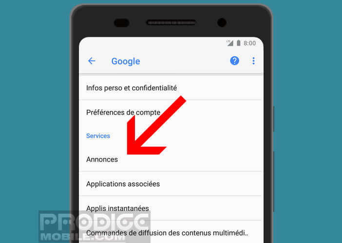 comment tracage du mobile android
