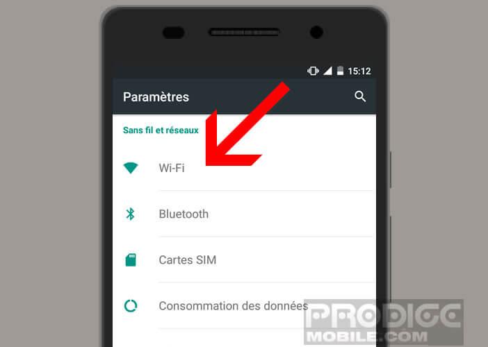 Afficher les paramètres de votre connexion Wi-Fi