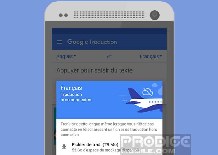 Télécharger le module de traduction hors connexion de Google