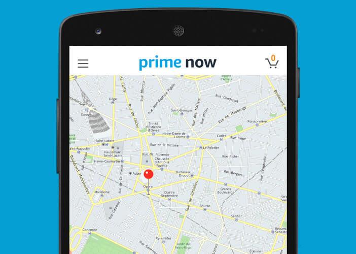 Visualiser sur votre mobile le déplacement du coursier en charge de votre commande