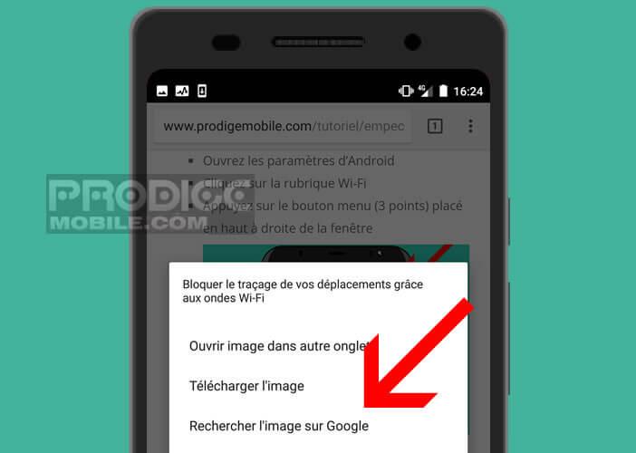 Lancer une recherche inversée sur Google Images depuis Chrome