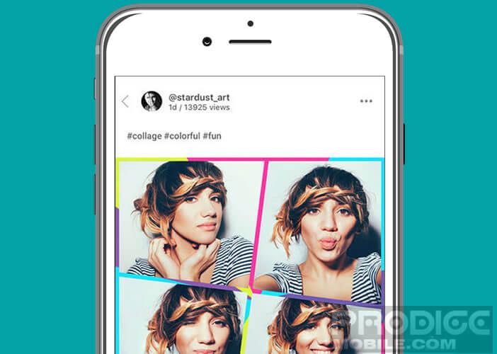 Créer des collages à partir des photos prises avec votre téléphone