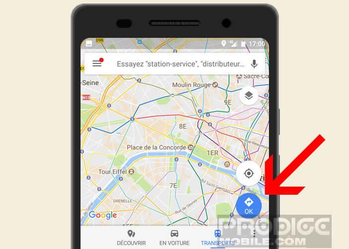 Créer un itinéraire dans Google Maps sur Android