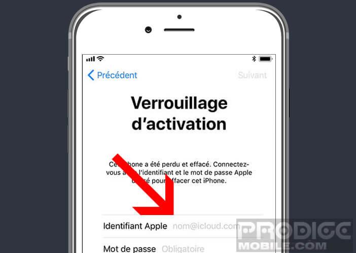 Désactiver le verrouillage d'activation sur l'iPhone grâce à vos identifiants Apple