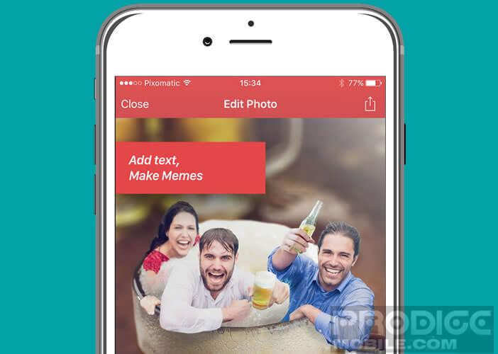 Puissant éditeur photo pour iPhone et iPad