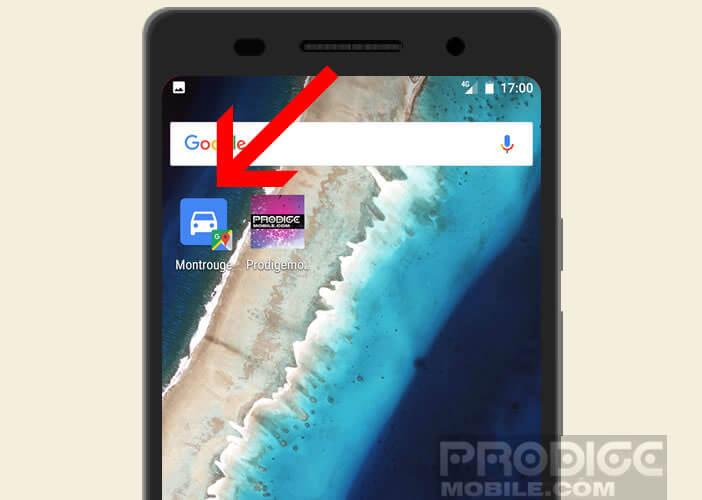 Enregistrer un parcours sur l'écran d'accueil de votre mobile Android