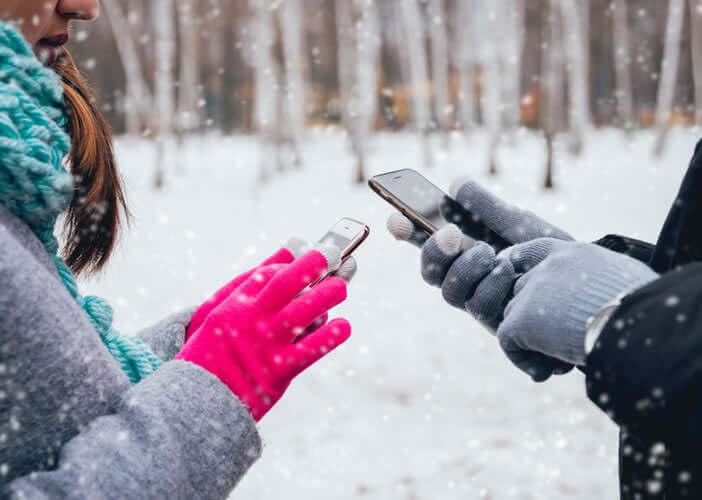 Gant tactile pour smartphone