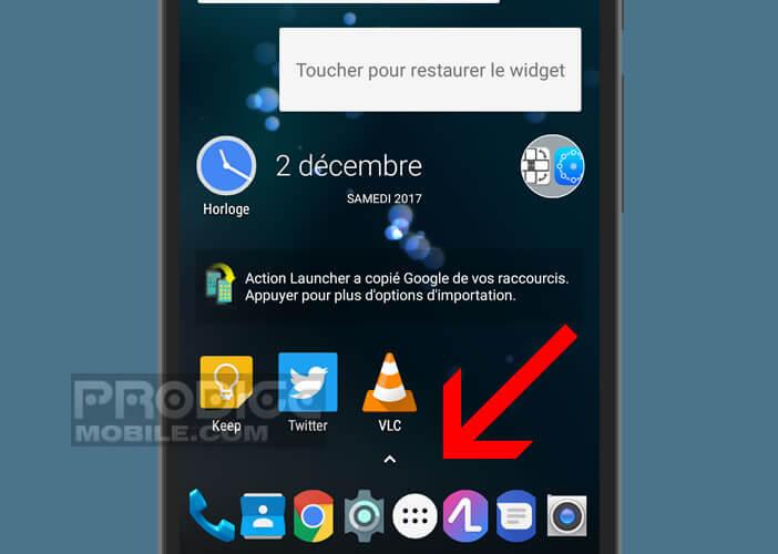 Afficher plus d'icônes dans la barre de tâches d'un smartphone Android