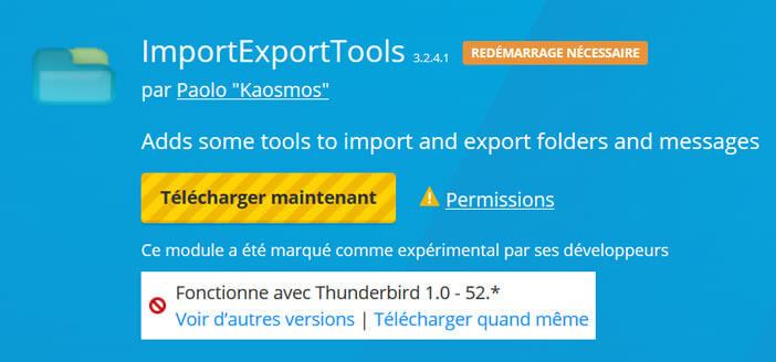Télécharger le module ImportExportTools