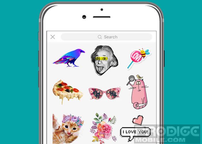 Créer vos propres stickers avec l'appli PicsArt