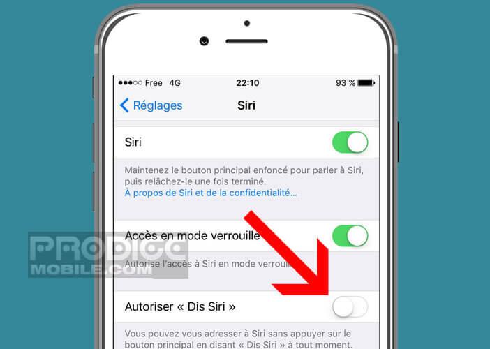 Activer la fonction Dis Siri sur votre iPhone