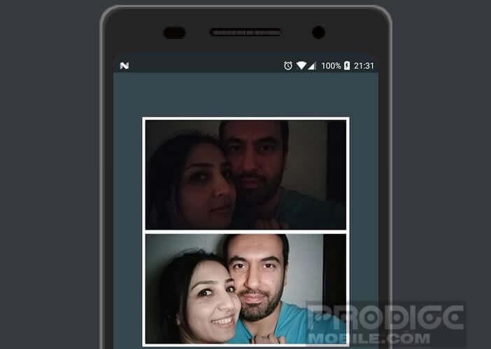 Application Selfie Flash pour prendre des photos dans l'obscurité