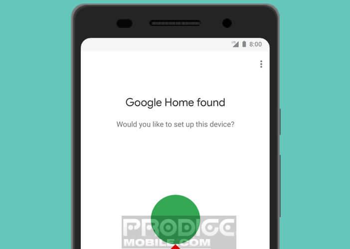 Associer l'enceinte intelligente de Google avec votre mobile
