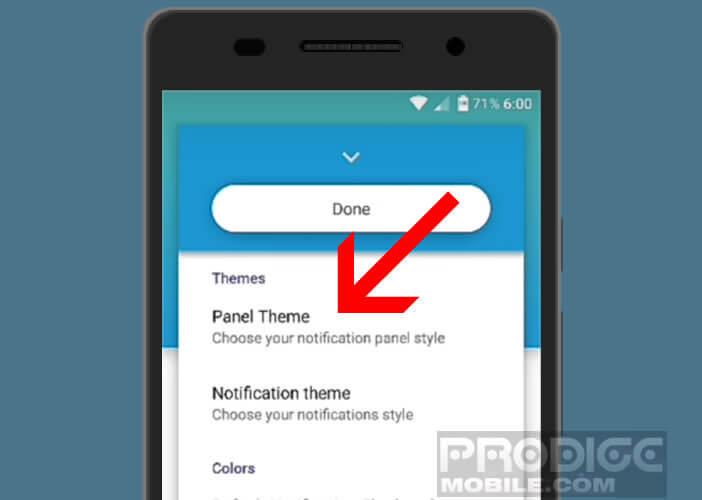 Material Notification Shade est une appli pour changer l'apparence des notifications
