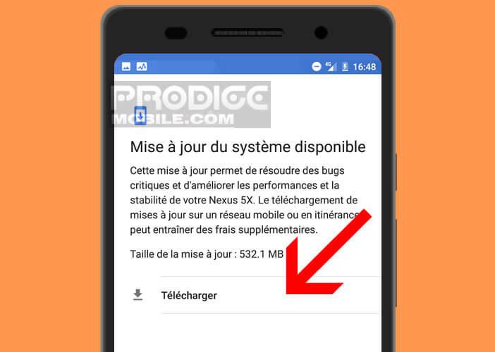 Vérifier la présence d'une mise à jour système pour votre smartphone