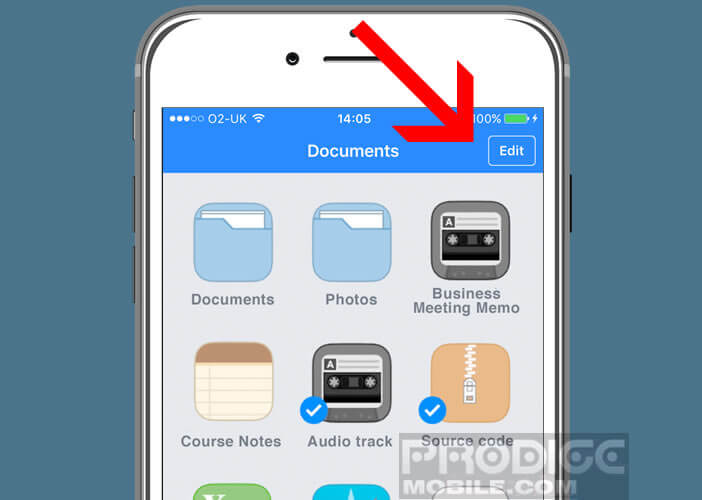 Envoyer un fichier stocké sur votre iPhone vers un ordinateur