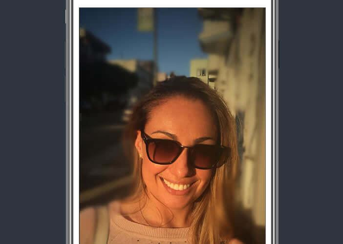 Ajouter un effet de flou aux photos prises avec un iPhone