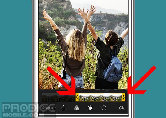 Modifier la durée de la séquence vidéo d'une Live Photo