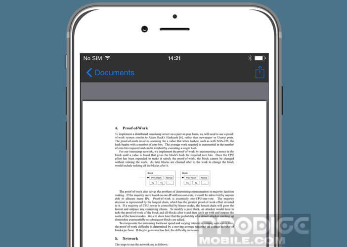 Lancer la visionneuse de documents sans passer par une autre appli
