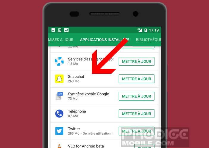 Afficher l'ensemble des applications installées depuis le Play Store de Google