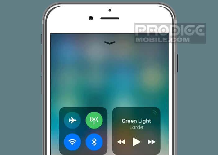 Accéder rapidement aux contrôles des réglages de l'iPhone
