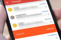 Gmail : supprimer un email d'un simple glissement de doigt