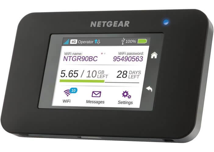 Le hotspot mobile 4G de Netgear avec écran tactile couleur
