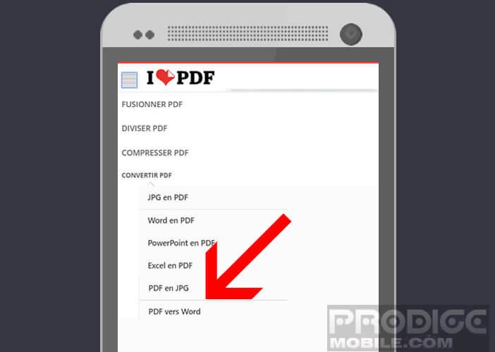 transformer fichier pdf en jpeg