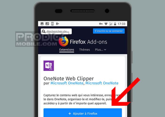 Configurer un plugin pour le navigateur mobile Mozilla