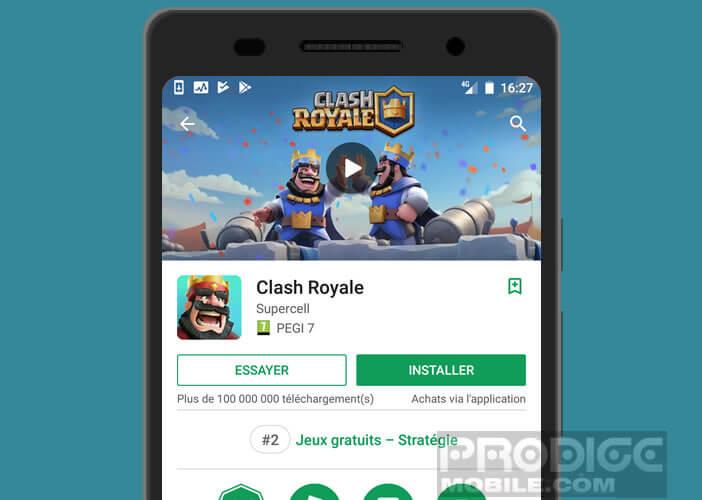 Clash Royale est compatible Google Instant Play
